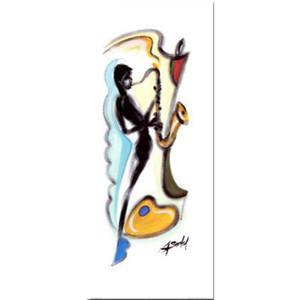 알프레드 Gockel 색소폰 플레이어 현대 미술 추상 수제 고품질의 유화
