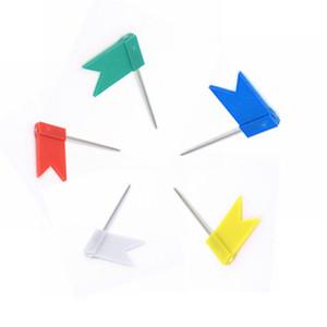 Plastica sugli spilli massa Label Nail piccola bandiera tack segnano disegni simbolo bandiera puntina