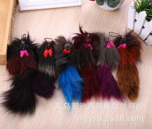 Taobao sıcak kek gibi satmak tilki kürk anahtarlık / araba aksesuarları Gerçek saç ampul çantası asmak rol ofing hareket Yaratıcı hediyeler tadı