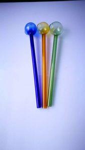 Tubo de cristal grueso colorido de la hornilla de aceite de Pyrex de la calidad 2017 Vidrio grueso del color para la pipa de agua de cristal de la madre-nave