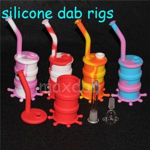 Caixa de silicone 3 ml Recipientes De Cera recipiente De Silicone Não-stick frascos de cera de grau alimentício dab ferramenta de armazenamento jar titular do óleo de Silicone Dab Rigs dhl livre