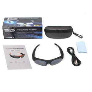 Горячие 1080P умные солнцезащитные очки SM16 Мини-камера широкий угол 120 градусов черный / оранжевый мини-DV видеокамера DVR видеокамера смарт-очки