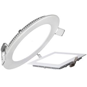 techo del LED empotrada panel paneles abajo se enciende regulable LED SMD2835 6W 9W 12W 15W 18W ultrafino LED Focos de iluminación Lámparas CE UL