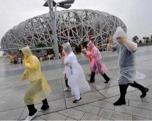 New PE Disposable One Time Raincoats Poncho Rainwear Fashional Travel Rain Coat Rain Wear gifts mixed colors 200PC