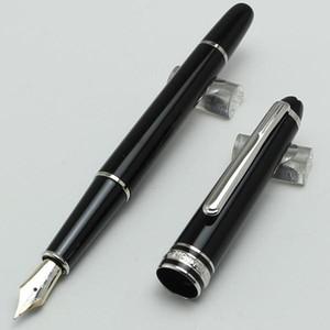 Di alta qualità nuovo lusso nero resina penna stilografica / penna a sfera scuola ufficio di cancelleria vendita calda penne regalo penna # 163