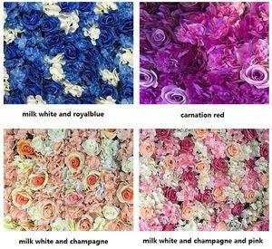 Accessoires de scène de mariage créatifs Silk rose entrelacs mur cryptage floral fond fleurs artificielles LIVRAISON GRATUITE WT048