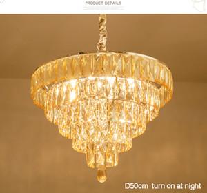 K9 Kristal Avize Modern Amerikan Kristal Avizeler Işıklar Armatür Ev İç Aydınlatma Odası Otel kolye Lambalar Asılı Yemek Yatak
