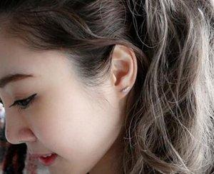 Foglia Orecchini orecchini della piuma Vintage Bella antico 925 Feather placcato d'argento della vite prigioniera per il regalo di Natale dei monili delle donne