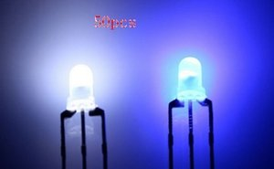 MIX 10 bicolores bicolore biocolor Eau claire Diffuse 3mm 5mm rouge @ blanc bleu @ blanc led diode lumiere perles