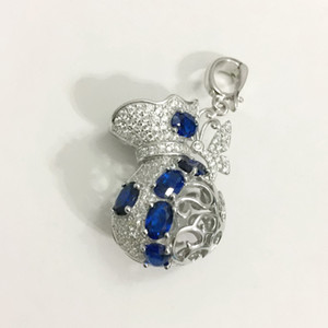 Raccordo a sospensione del ciondolo del tesoro del tesoro fortunato della gemma lucida del tesoro della Gem-Blocking, la sterlina di 925 fai da te può contenere 6-14 mm perline della gemma di perla 6-14 mm che fa il fascino galleggiante