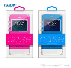 200 unids nueva llegada personalizado caja transparente con bandejas internas para iPhone 6 6 plus iPhone 7 plástico PVC colorido caja de embalaje caja de embalaje de moda