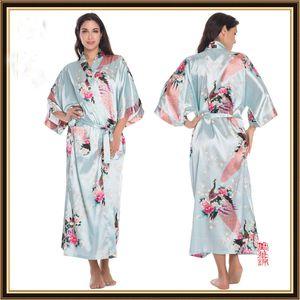Silk Solid Royan Lingerie Nightgown Gown Kimono Satin Womens Ladies Pajama Bath With Pjs Robe Sleepwear High Quality Nihpf