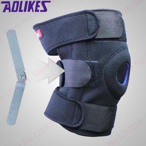 Ucuz Çelik Plaka Tırmanma Kneepad Siyah Rehabilitasyon Bacak Diz Desteği Unisex Açık Kneepad Bisiklet Dizlik