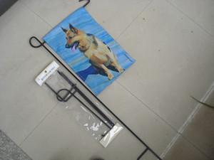 Soporte de poste de metal para jardín decoración de jardín decoración del partido soporte de miniflag poste personalizado banner poste de bandera envío gratis