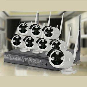 MiyeaEye 8ch nvr cctv system, 960P HD Wifi cámara ip + 8ch 2.4G NVR inalámbrica. KiFi NVR Kits con o sin red funciona.