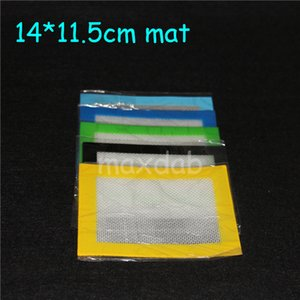 Özel Silikon Pişirme Mat 14 * 11.5mm (4.5 * 5.5 inç) silikon BHO Balmumu Dab Pad Balmumu Mat