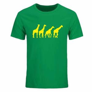 Camisetas para hombre Fitness Fashion Summer O-Neck Ropa para hombres Jirafa Print Men Casual Tees Tops Camisetas grandes de algodón casual DIY-0195D