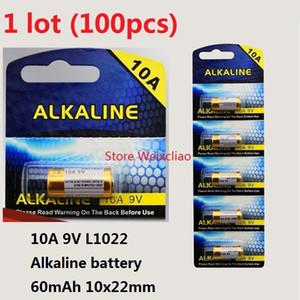 100pcs 1 lot 10A 9V 10A9V 9V10A L1022 pile alcaline sèche 9 Volt Batteries remplacent la carte A23L Livraison Gratuite