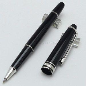 Luxo caneta Roller / Caneta Esferográfica Canetas finamente com laser sobre o ródio revestido Au escritório escola marca Caneta de escrita # 163