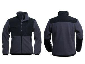 2017 de Alta qualidade novo velo Mens Fleece Jacket, Inverno Esportes Ao Ar Livre Quente Fleece Camisola Outerwear Preto Branco S-XXL