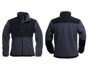 2017 di alta qualità nuovo di zecca in pile mens giacca in pile, inverno sport all'aria aperta felpa in pile caldo tuta sportiva nero bianco S-XXL