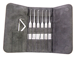 Nouvelle arrivée HUK 6pcs en acier inoxydable Super Picks Set Locksmith Outils Lock Picks Outil Lockpick lock picking