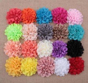 Acessórios Para o Cabelo Casamento Chiffon Flores De Pétala - Headband Tecido Chiffon Flores - Chiffon Puff Flor YH608