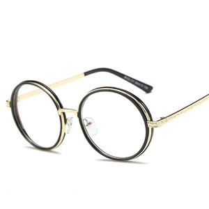 Al por mayor-De gran tamaño Ronda Vintage Glasses Frame Anti Blue Rays Gafas de ordenador Gaming Reading Glasses Protección Eyewear Mujeres Hombres