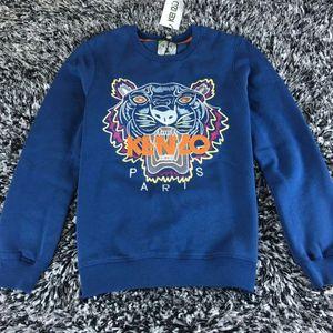 2019 großhandel die beste qualität KENZ0 Lob marke Gestickte tigerkopf logo pullover Oansatz pullover Terry sweatershirt jimpers original