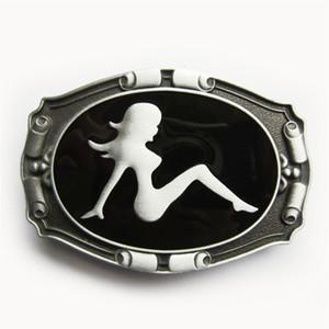 Nueva Camión Vintage Mud Flap Girl Esmalte Cinturón Hebilla Gurtelschnalle Boucle de ceinture BUCKLE-CA024 Nuevo envío gratuito