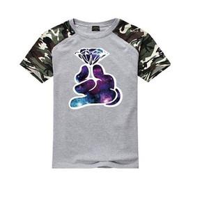 K99225002 # frete grátis s-5xl moda T shirt o-pescoço de alta-algodão elástico dos homens de manga curta Crooks e Castelos frete grátis