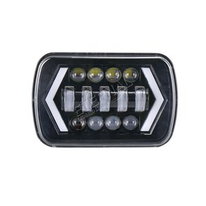 20pc 90W 5x7 (6x7) Offroad-Scheinwerfer H4-Scheinwerfer leuchtet gelb Blinker Off-Road-wrangler LKW-Anhänger Traktor 4x4 Fahrzeug Auto läuft