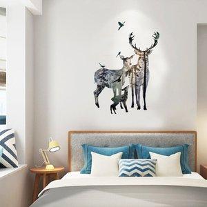 New Forest Elk Deer Famiglia Wall Stickers Decorazione della casa Soggiorno Adesivi murali spedizione gratuita