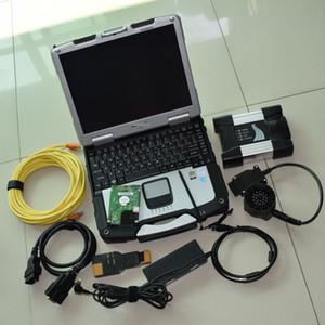 Для BMW ICOM Next Диагностический инструмент программирования с жестким диском CF30 4 ГБ Ноутбук HDD 500 ГБ ISTA D / P на нескольких языках
