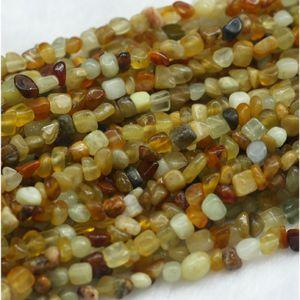 """Commercio all'ingrosso naturale genuino verde giallo multi-color arcobaleno nefrite giada piccola nugget forma libera perline gioielli adatti 15 """"03863"""