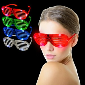 Led Light Glasses Shutter Shape Cold Flash Party popolare Concors Favors Cheer Dance Puntelli Luminous Eyeglass Toy 3 8rr F