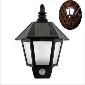 outdoor wall lights new LED Solar Light Modern Outdoor Lighting Motion Sensor Activated Hexagonal Wall Lamp for Garden Decoration