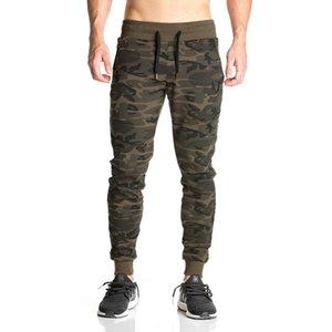 Venta al por mayor- 2017 NUEVA ropa pantalones Nueva Fitness Pantalones elásticos ocasionales culturismo ropa camuflaje ocasional pantalones de chándal pantalones joggers