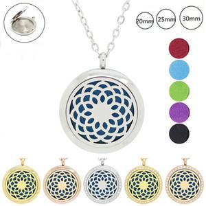 Mit Kette als Geschenk! 316L Edelstahl Silber Farbe magnetische Duftstoff Medaillon Medaillon ätherisches Öl Diffusor Medaillon Halskette