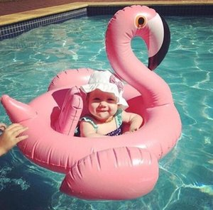 Swan Inflatable Float Swim Ring Baby Summer Toys Swan Swimming Seat Ring Water Toys Beach Toys 2 Colors( White and Pink)