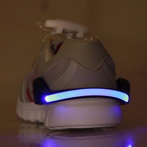 Wholesale- Außen Luminous Sicherheit Nachtlaufschuh Clips Radfahren Fahrrad Fahrrad LED Outdoor Sports Warnleuchte Sicherheits-Licht