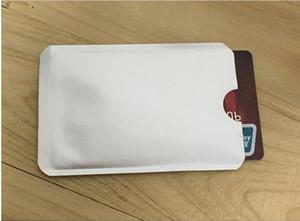 2000 pcs de Alumínio Anti RFID Bloqueio Manga Titular do Cartão de Crédito Frete Grátis
