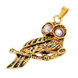 IJD9757 Night Owl 316L Acero Inoxidable Cremación Collar Colgante Cenizas Recuerdo Urna Collar de Memoria