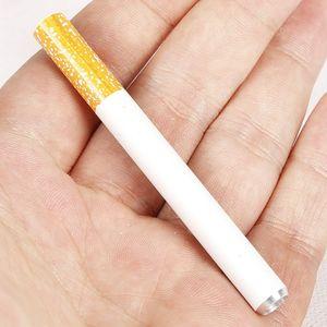 Sigara Şekli Sigara Borular Alüminyum Alaşım Metal Borular 100 adet / kutu Sigara Için 78mm 55mm Uzunluğu Bir Hitter Tütün Boruları