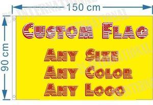 Bandierina su ordinazione qualsiasi formato a colori Logo 3x5 ft personalizzati Banner 90x150cm compagnia advertisement Bandiere