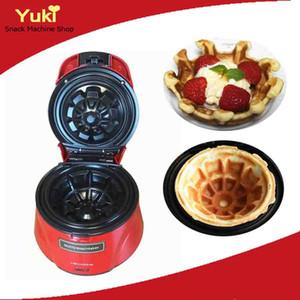 Mini Waffle Bowl Maker 220v Waffle que hace la máquina Máquina de Waffle del fabricante del Waffle del huevo del hogar Snack Food Machine