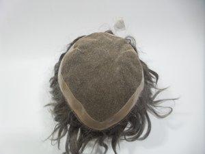 Swiss Net Peluca Pieza de cabello Cabello europeo Pelucas llenas de encaje Color Negro Recto 27cm * 22cm Swiss Net PU WIGS Puede diseñar a medida de buena calidad