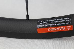 Kohlenstoff-Fahrrad-Straße Räder Felgentiefe 30mm Breite 25mm Clincher Rohr Straße Fahrrad Radsatz Basalt Bremsfläche Powerway R36 Carbon-Naben