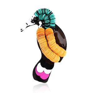 Artilady nuovo picchio a mano collare spille colorato stile estivo uccello spilla per le donne gioielli regalo festa