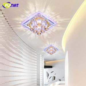 Fumat الكريستال ضوء السقف أدى 5 واط مربع داخلي إضاءة الممر مدخل الرواق الشمعدان أضواء مصباح ديكور بريقا أضواء السقف